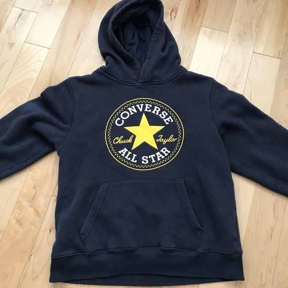 Converse Tops - Youth unisex converse navy blue hoodie f788ff615